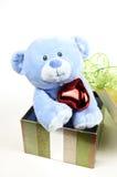 Giocattolo blu dell'orso Fotografia Stock Libera da Diritti