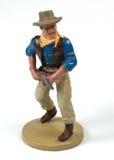 Giocattolo cawboy del metallo dell'annata fotografia stock libera da diritti