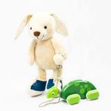 Giocattolo coccolo del coniglio di coniglietto fotografia stock