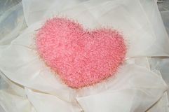 Giocattolo-cuore molle per il giorno di biglietti di S. Valentino della st Fotografie Stock