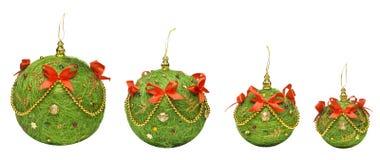 Giocattolo d'attaccatura della decorazione delle palle di Natale, Backgroun bianco isolato Immagine Stock
