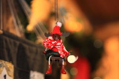 Giocattolo decorativo della decorazione del nuovo anno e di Natale nel retro stile Immagini Stock Libere da Diritti