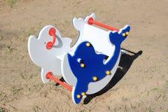Giocattolo dei bambini sotto forma d'un delfino immagini stock libere da diritti