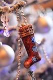 Giocattolo dei calzini di Natale Fotografia Stock