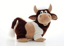 Giocattolo del Bull su priorità bassa bianca Fotografie Stock Libere da Diritti