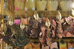 Giocattolo del burattino in Cambogia Fotografie Stock Libere da Diritti