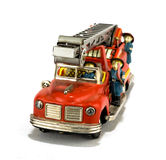 Giocattolo del camion dei vigili del fuoco dell'annata Immagini Stock