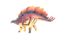 Giocattolo del dinosauro con fondo bianco Fotografia Stock Libera da Diritti
