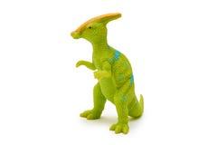 Giocattolo del dinosauro della plastica o del silicone isolato su fondo bianco Fotografie Stock