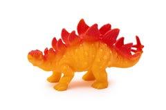 Giocattolo del dinosauro della plastica o del silicone isolato su fondo bianco Immagine Stock Libera da Diritti