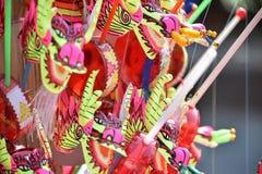 giocattolo del fronte di carnevale; leone tradizionale cinese di dancing; Giocattolo cinese Fotografie Stock