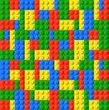 Giocattolo del mattone di lego dei bambini illustrazione vettoriale