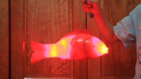 Giocattolo del pesce per i bambini stock footage