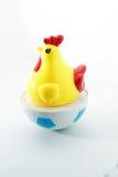 Giocattolo del pollo su bianco isolato fotografia stock libera da diritti