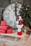 Giocattolo del pupazzo di neve di Natale Fotografia Stock Libera da Diritti