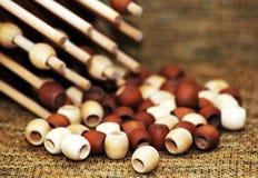 Giocattolo del ` s del bambino, puzzle di legno Fotografia Stock Libera da Diritti