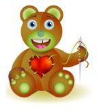 Giocattolo dell'orso con cuore. Immagine Stock