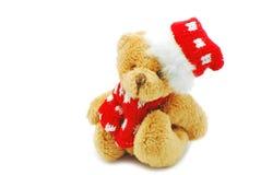 Giocattolo dell'orso di Natale Fotografia Stock