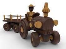 Giocattolo dettagliato di legno dell'agricoltore royalty illustrazione gratis