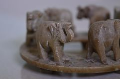 Giocattolo di camminata degli elefanti Fotografia Stock