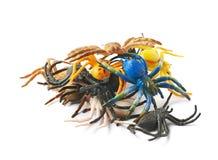 Giocattolo di gomma del ragno isolato Fotografie Stock