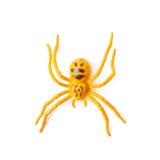 Giocattolo di gomma falso del ragno isolato Fotografia Stock
