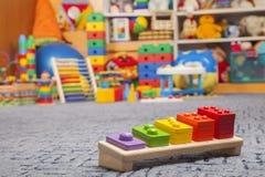 Giocattolo di legno di colore Fotografie Stock