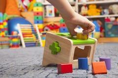 Giocattolo di legno di colore sorter Immagine Stock Libera da Diritti