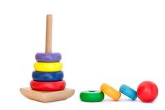 Giocattolo di legno variopinto della piramide Fotografia Stock Libera da Diritti