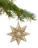 Giocattolo di Natale sotto forma di una stella Fotografia Stock