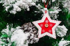 Giocattolo di Natale sull'albero di Natale Fotografia Stock