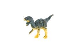 Giocattolo di plastica del dinosauro, Velociraptor Fotografie Stock Libere da Diritti