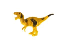Giocattolo di plastica del dinosauro, Velociraptor Fotografia Stock