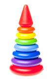 Giocattolo di plastica della piramide Fotografie Stock
