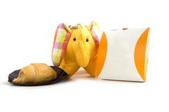 Giocattolo di seta giallo dell'elefante Fotografie Stock Libere da Diritti