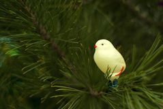 Giocattolo di vetro d'annata dell'albero di Natale: pollo Fotografia Stock