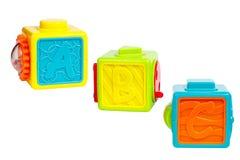 Giocattolo educativo per i cubi variopinti dei bambini Immagini Stock Libere da Diritti