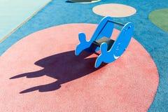 Giocattolo a forma di balena all'aperto del gioco Fotografia Stock Libera da Diritti