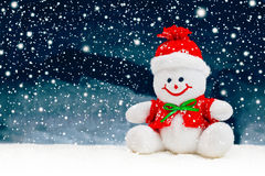 Giocattolo generico sorridente del pupazzo di neve di Natale Fotografia Stock Libera da Diritti