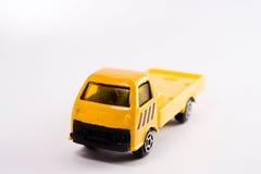 Giocattolo giallo del camion Fotografie Stock