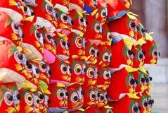 Giocattolo Handmade della tigre Fotografie Stock