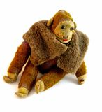 Giocattolo invecchiato della scimmia Fotografia Stock Libera da Diritti