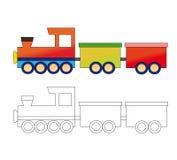 Giocattolo locomotivo Fotografia Stock