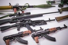 Giocattolo militare delle pistole Fotografia Stock