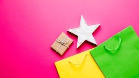 Giocattolo, regalo e sacchetti della spesa Fotografia Stock
