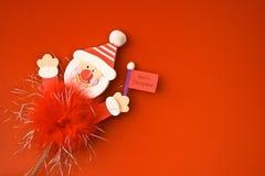 Giocattolo rosso 5 di Buon Natale fotografia stock libera da diritti
