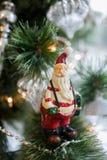 Giocattolo Santa dell'albero di natale Fotografie Stock