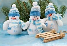 Giocattolo sorridente del pupazzo di neve Fotografia Stock Libera da Diritti