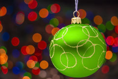 Giocattolo verde di Natale Fotografia Stock
