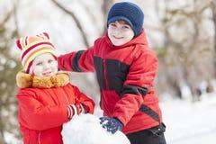 Giochi attivi di inverno Fotografia Stock